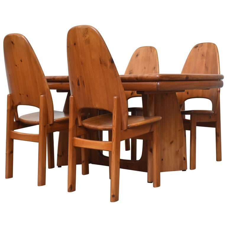 Glostrup Møbelfabrik Danish Pine Dining Set For Sale