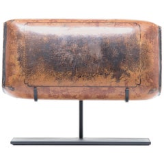 19th Century Chinese Pressed Lacquered Headrest