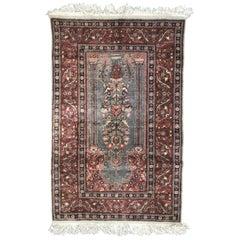 Turkish Silk Kayseri Vintage Rug