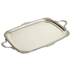 19th Century English, Hawksworth & Eyre Sterling Silver Tray 74oz