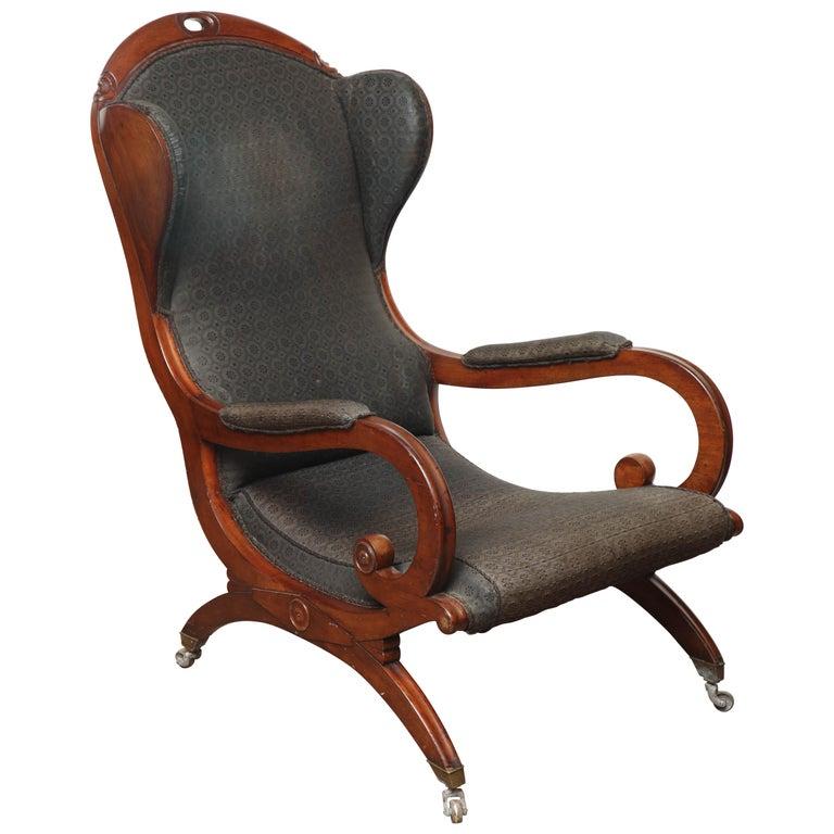 Early 19th Century Mahogany Wing Chair