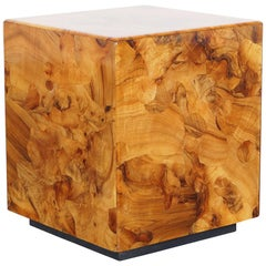 Vintage Burl Wood Side Tables by Pace Collection