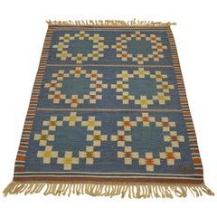 20th Century Swedish Röllakan Flat-Weave Carpet
