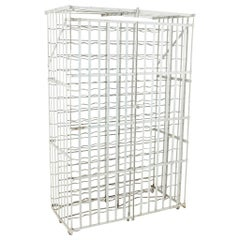 Large French Riveted Iron Wine Cage or Wine Rack for 280 Bottles, circa 1900