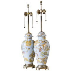 Marbro French Porcelain Lamps