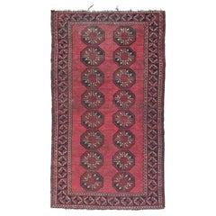 Vintage Turkmen Afghan Rug