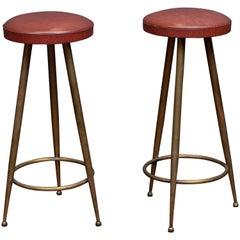Italian Brass Bar Stools