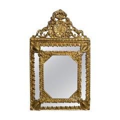 Ancient Golden Brass Mirror
