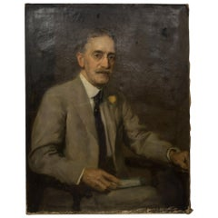 """Dr. Fowler"" Oil on Canvas Portrait by S.Seymour Thomas, circa 1900"