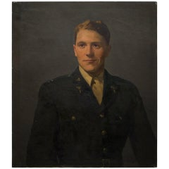 Untitled Oil on Canvas Portrait of WWII Serviceman, circa 1940