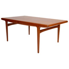 Danish Modern Dining Table with Leaves by Johannes Andersen for Uldum