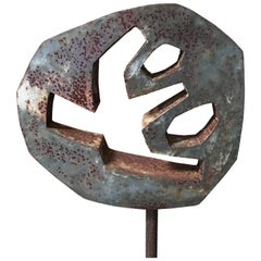 Vintage Steel Garden Sculpture