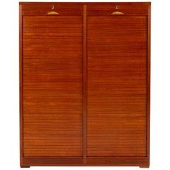 Danish Tambour Door Filing Cabinet by Frej-Odense