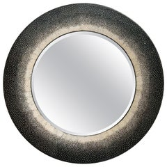 French Black Lacquered Mirror