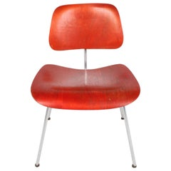 Early Charles Eames for Herman Miller Red Aniline DCM