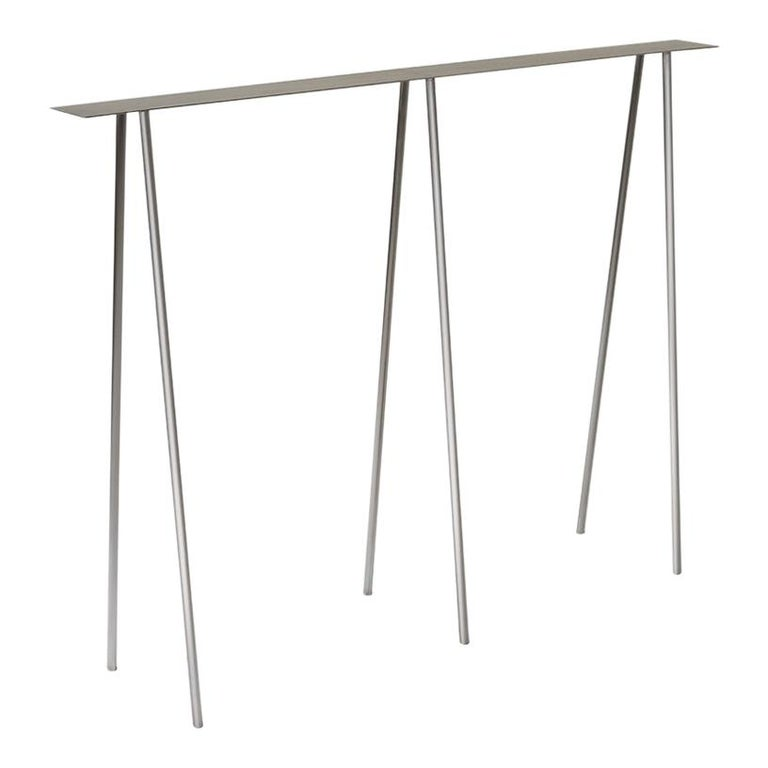 Paper Table S in Polished Steel Finish by UMÉ Studio