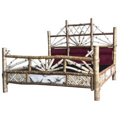Bespoke Adirondack Beechwood Rustic King Bed by Peter Winter, 1998