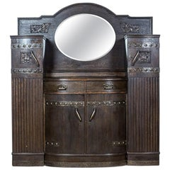 Art Nouveau Oak Cupboard, circa 1900