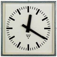 Industrial Railway Clock by Pragotron, 1970s