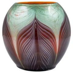 Rare Loetz Ball-Shaped Vase Titania Gre 4634 circa 1906 Art Nouveau Glass