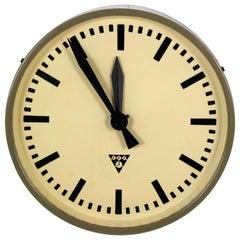 Industrial Railway Clock by Pragotron, 1960s