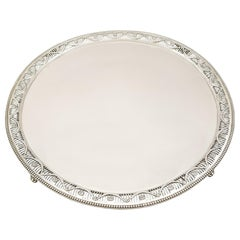 Antique Victorian Sterling Silver Salver