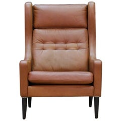 Danish Design Armchair Leather Retro Classic