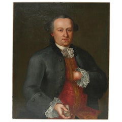 French 18th Century Oil Painting of a Gentleman