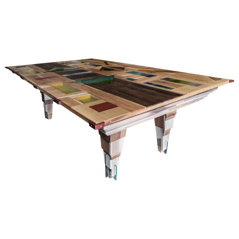 Contemporary Multifunctional Billiard or Game Table, Cocktail Table and Paravent For Sale