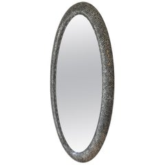 Oval Steel Mosaic Wall Mirror