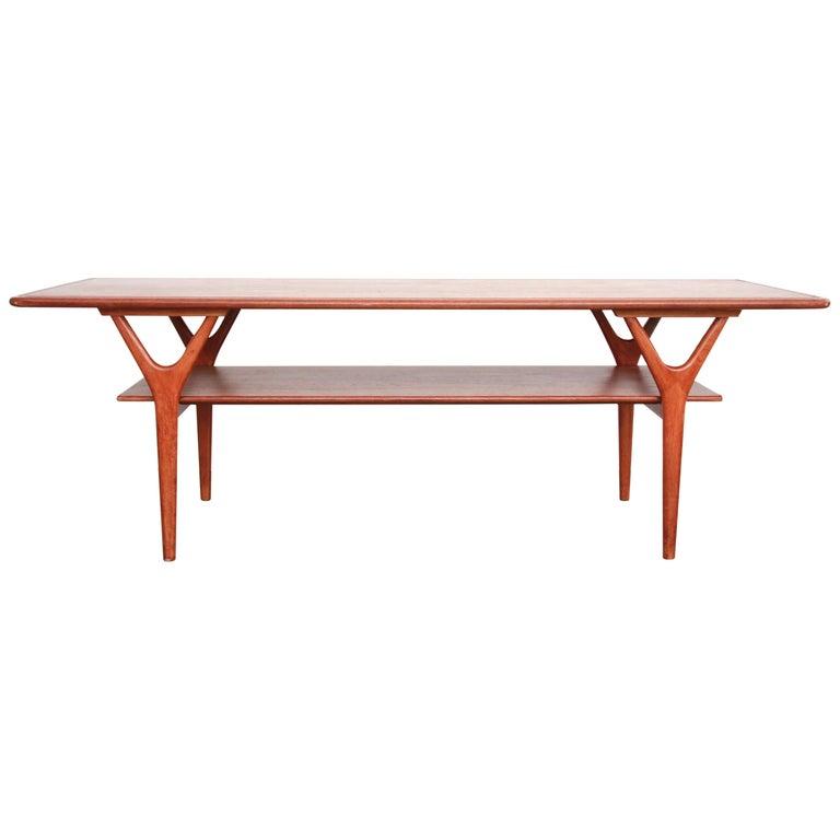 Midcentury Teak Danish Design Coffee Table by Kurt Østervig for Jason Møbler