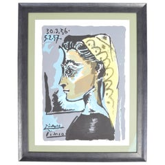 Pablo Picasso 'Jacqueline' Lythograph Limited Hand Numbered