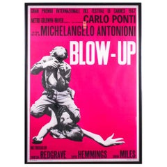 Michelangelo Antonioni Blow Up, 1966, Film Large Print, Signed, Italian Cinema