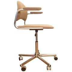 Czech Swivel Office Chairs, 1970s, Set of 4