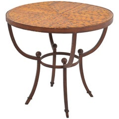 French 1940 Art Deco Side Table