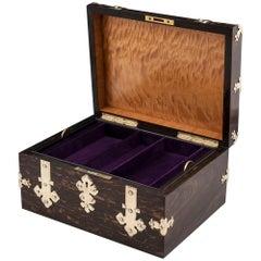 George Betjemann Coromandel Brass Jewelry Watch Box, 19th Century