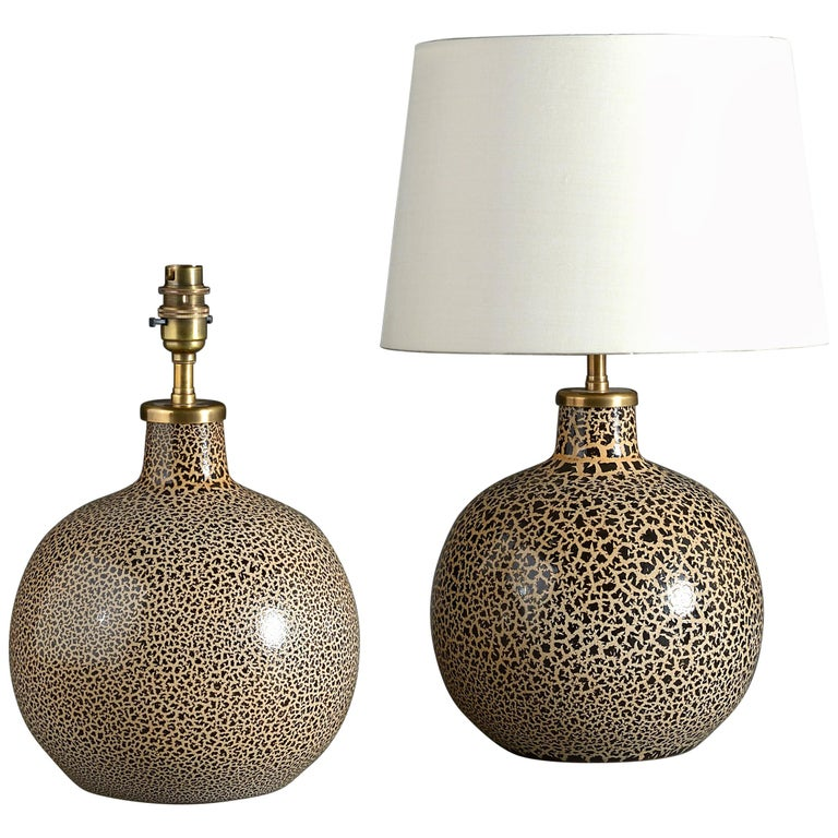 Pair of Midcentury Glass Lamp Bases
