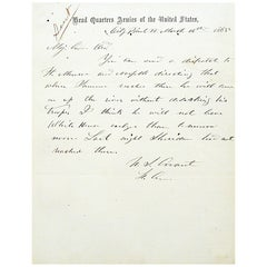 Ulysses S. Grant - Autograph Letter Signed Directing Generals for the War's End