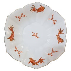 """Herend """"Happy Fish"""" Hand Painted Hungarian Porcelain Bowl, Modern"""