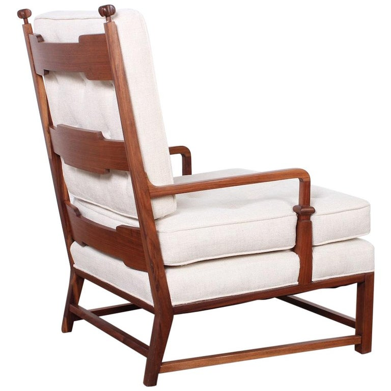 Throne Lounge Chair by Tommi Parzinger For Sale