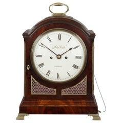 Georgian Mahogany Bracket Clock, John Scott, London