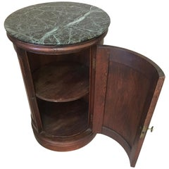 "19th Century Walnut Empire Style French Opening Side Table Called ""Somno"""