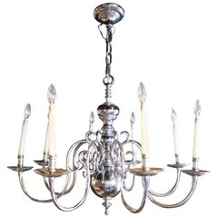Modern Dutch Style Chrome Chandelier