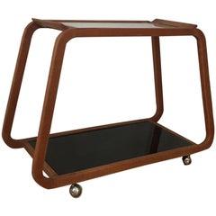 Austrian Architect Design, Bar Cart, Beechwood