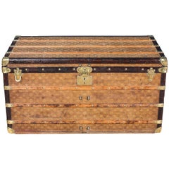 Antique 19th Century Louis Vuitton Woven Steamer Trunk, circa 1900