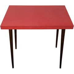 Adorable Austrian Side Table with Pink Resopal Top