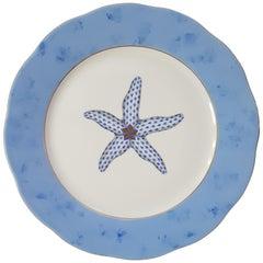 "Herend ""Starfish"" Hand-Painted Hungarian Porcelain Dessert Plate, Modern"