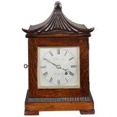 Georgian Miniature Mahogany Bracket Clock by Watson & Son, Cambridge
