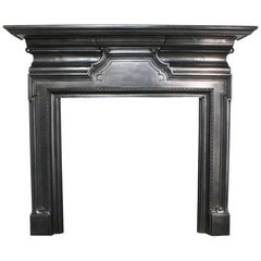Antique Edwardian Cast Iron Fire Surround