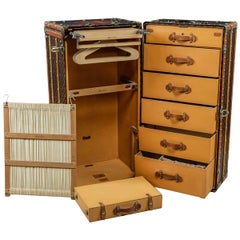 Antique 20th Century Massive Louis Vuitton Wardrobe Trunk, circa 1900